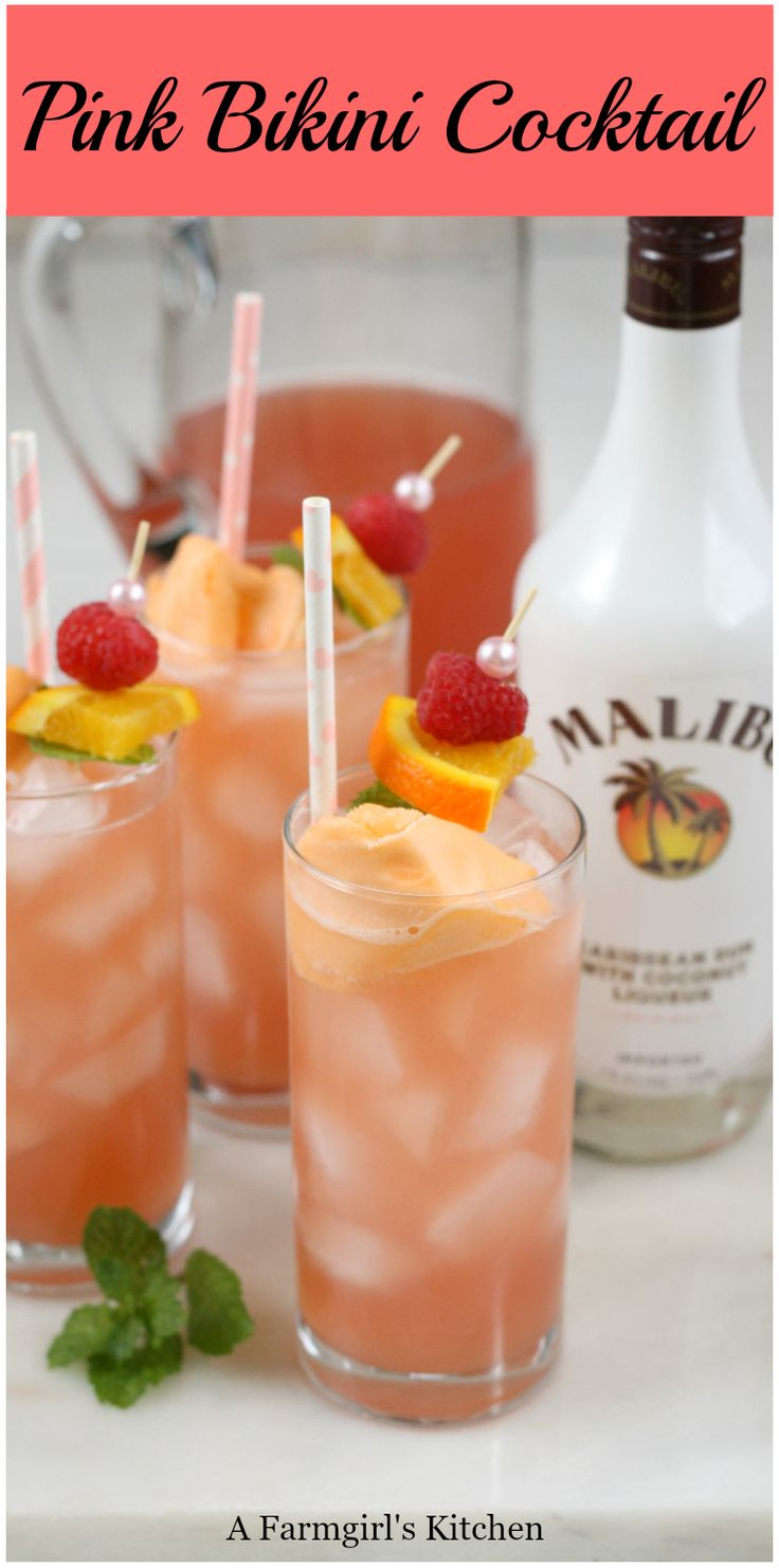 Pink Bikini Cocktails are a sweet and tropical tasting cocktail that is super ea…