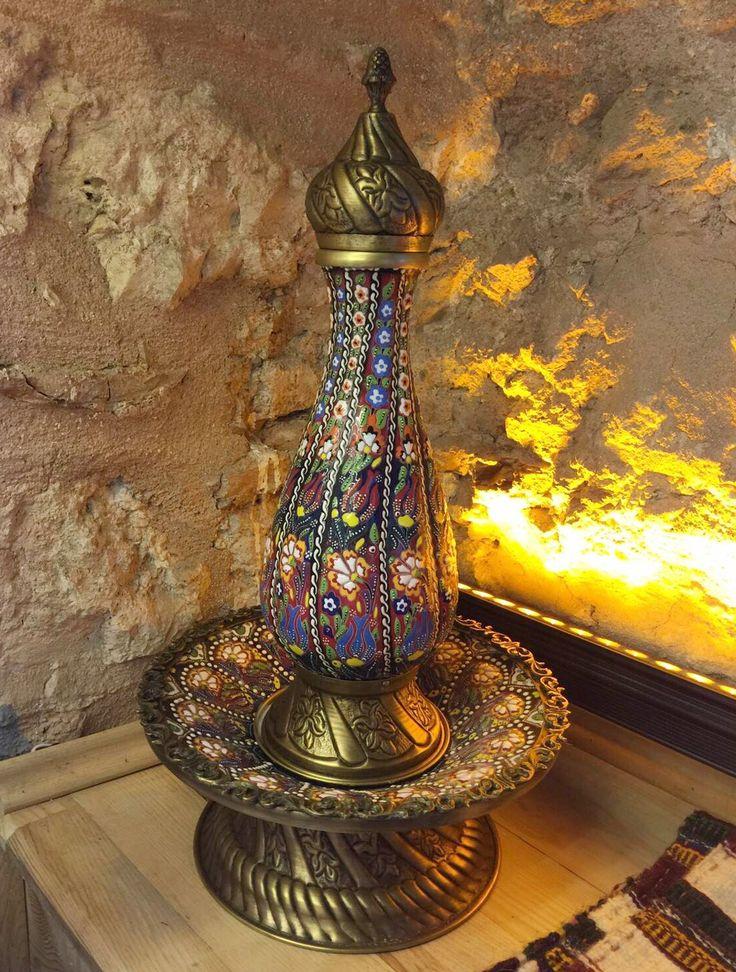 HANDMADE CERAMIC PITCHER, TURKISH CERAMICS, 25 cm