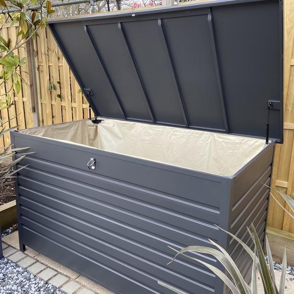 Robert Charles Sumo Aluminium Garden Cushion Storage Box Large In
