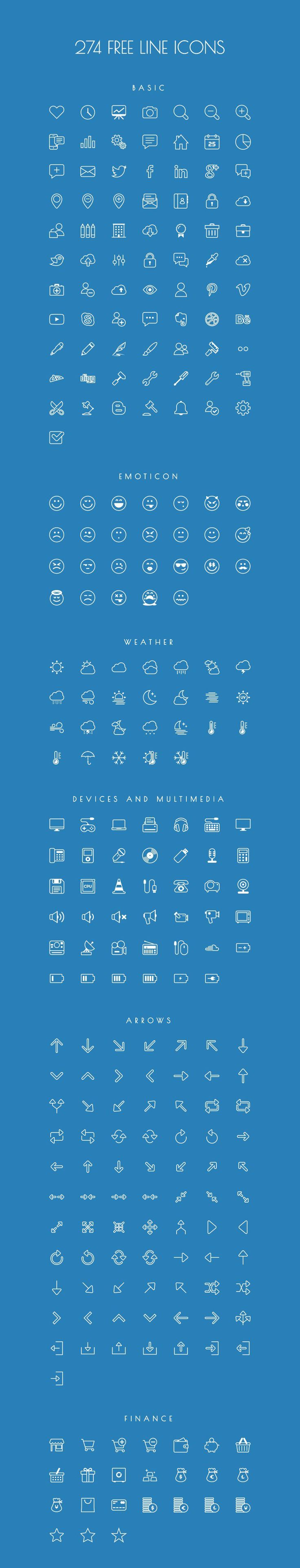 Image 7160 Free Outline Icon Sets Perfect for Contemporary Designs