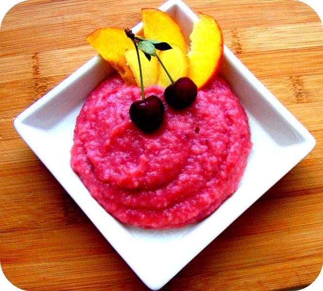 Gyömbéres-gyümölcsös rizspuding