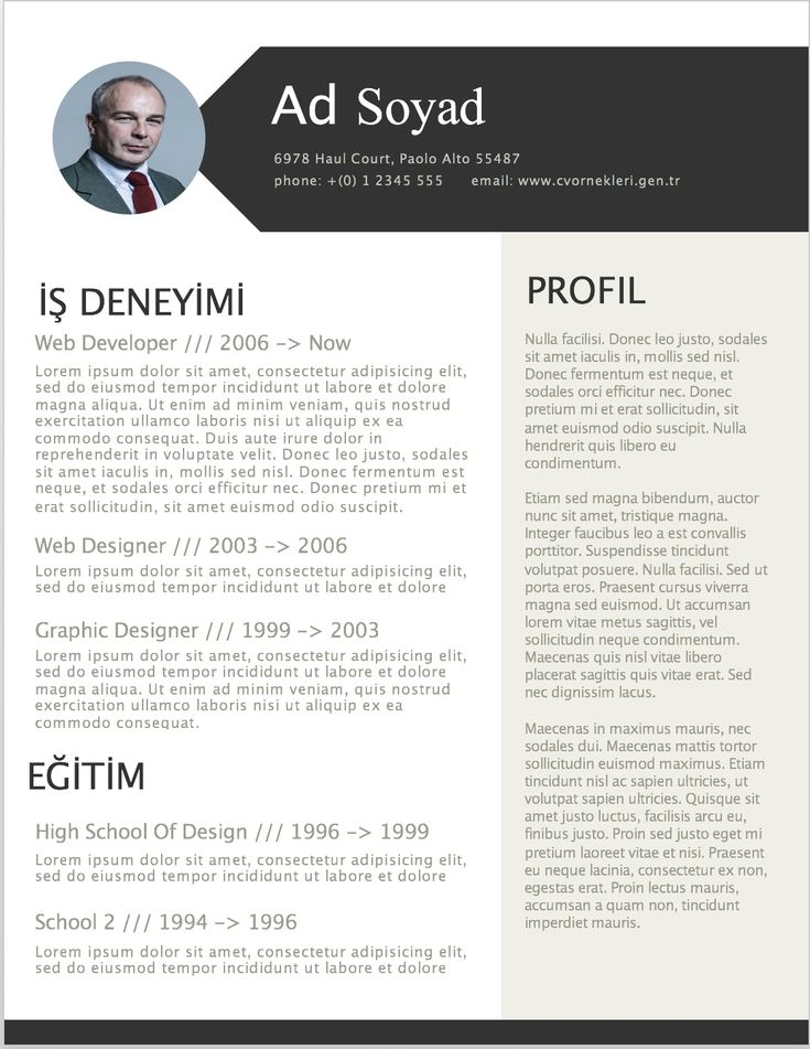 17 best CV Örnekleri images on Pinterest
