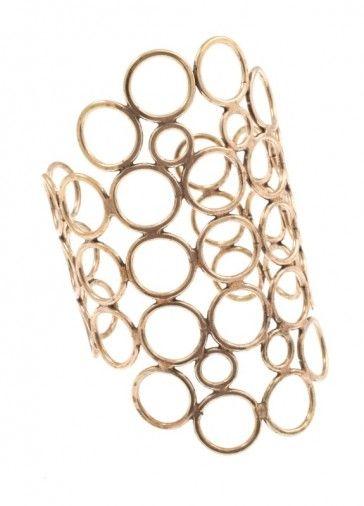 """Omphalodes"" - Handmade bronze metal plated bracelet, by Art Wear Dimitriadis"