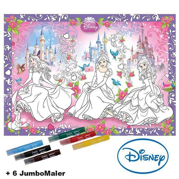 #BoMaBi #Princess ● Poster 118 x 84 cm zum #ausmalen incl. 6 Jumbomalern ● #Malen, #Spielen, #joyPac®