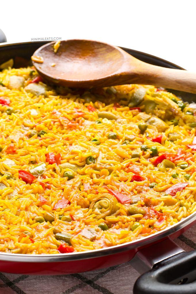 Vegan Spanish Paella. Paella is one of the most famous Spanish dishes. Vegan…