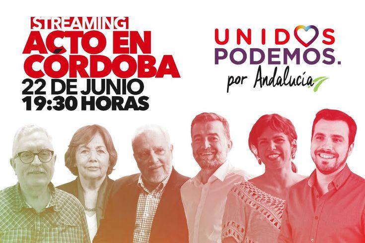 Acto en Córdoba: Alberto Garzón, Julio Anguita, Manolo Moreneo y Antonia...