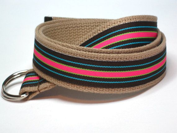 Canvas Belts From Fashionably Lauren Sized For Toddlers