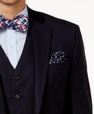 Lauren Ralph Lauren Men's Big & Tall Classic-Fit Navy Wool Vested Suit - Navy 48XL