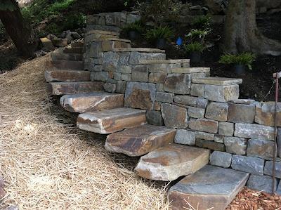 jardines adoquines de piedra natural piedras naturales escaleras de piedra muros de piedra piedra seca proyectos al aire libre ideas del patio