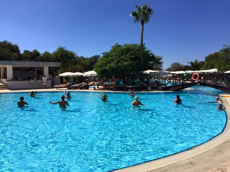 Aqua Zumba fun happens 11:30am each Tuesday, Thursday, Friday and Sunday at the outdoor pool of Grecian Bay Hotel Cyprus so make a splash and join in!