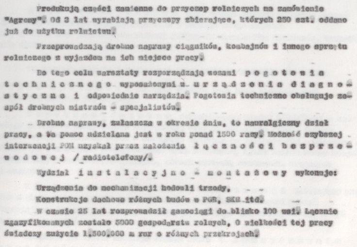 Z kroniki POM 8 (kopia maszynopisu)
