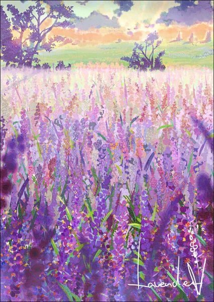 Lavender by masuo: Watercolor Art, Art Watercolor, Art Inspiration, Colour Paintings, Illustration, Arty Stuff, Color Lavender, Book