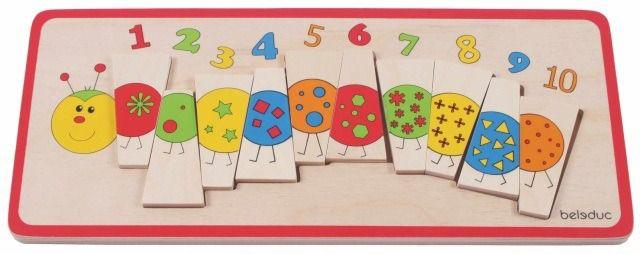 Puzzle POČÍTACÍ HOUSENKA | Dřevěné didaktické puzzle Beleduc | KOPKO