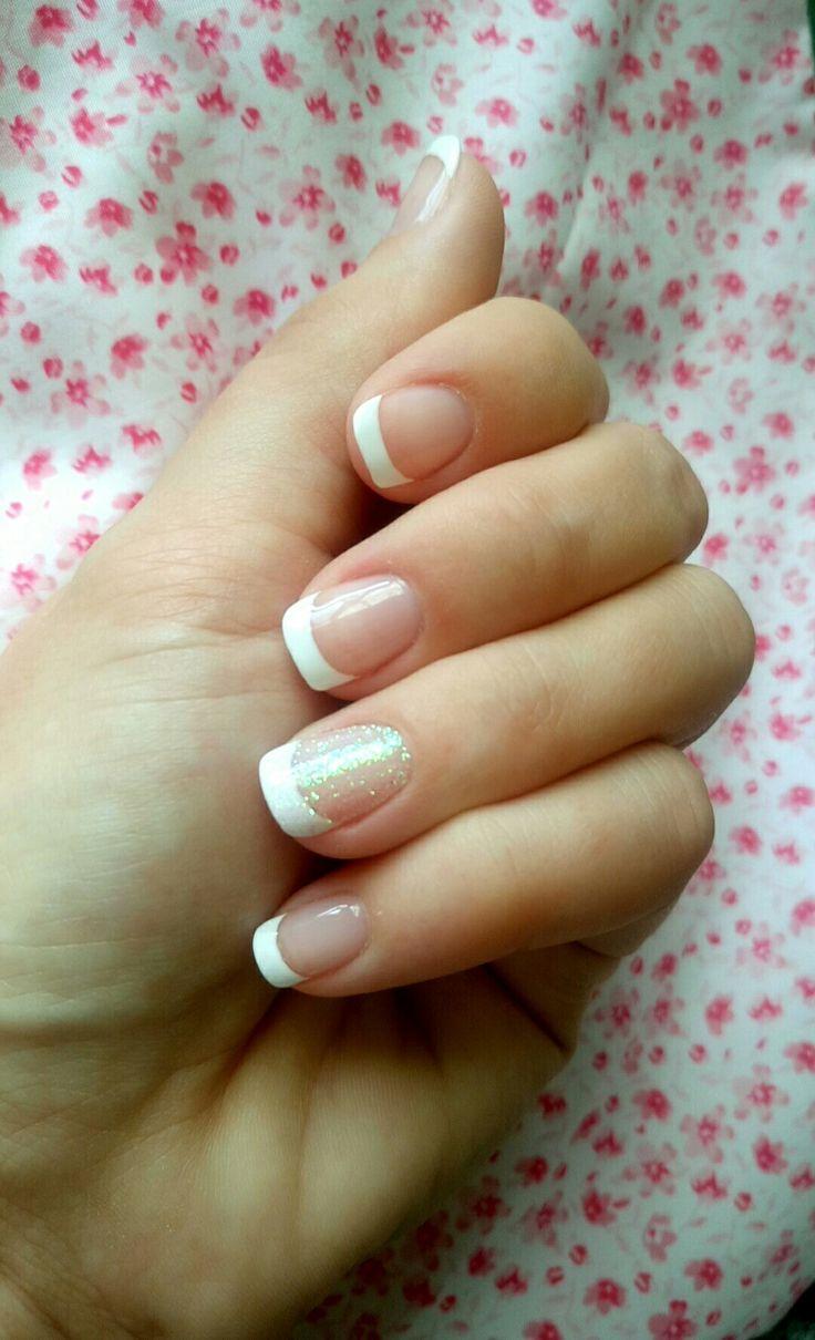 Classic CND shellac French manicure x