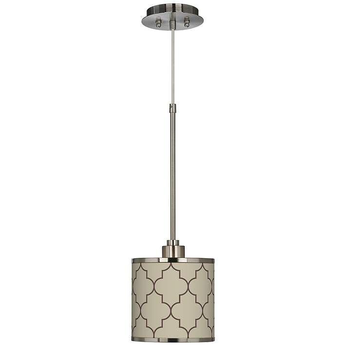 Tangier Taupe Giclee Glow Mini Pendant Light - #T6312-5D184 | Lamps Plus