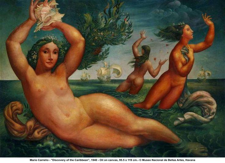 Mario Carreno, Discovery of the Caribbean 1940.  Art Experience NYC  www.artexperiencenyc.com