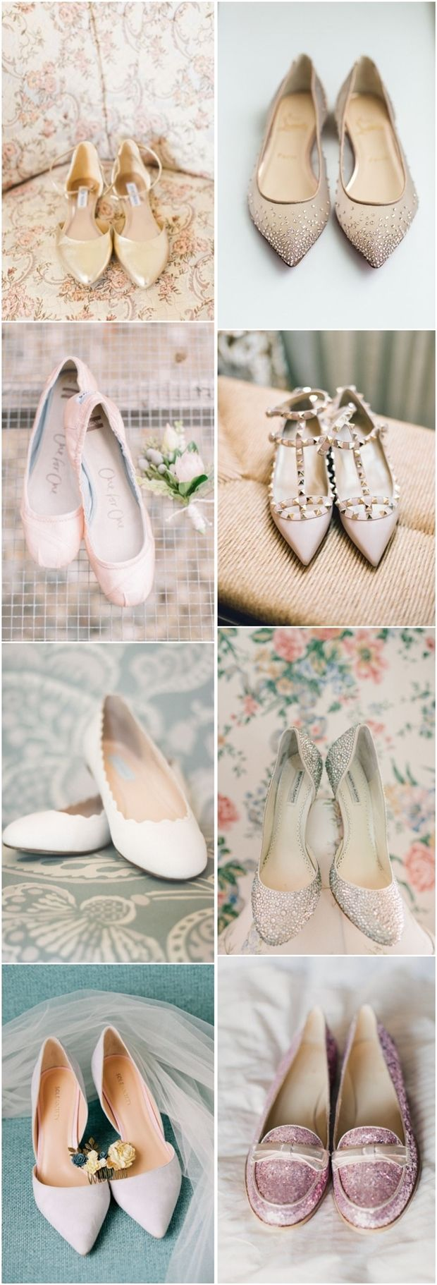 25 Comfortable Wedding Flats for Brides | http://www.deerpearlflowers.com/25-comfortable-wedding-flats-for-brides/ ++ CustomMade ++