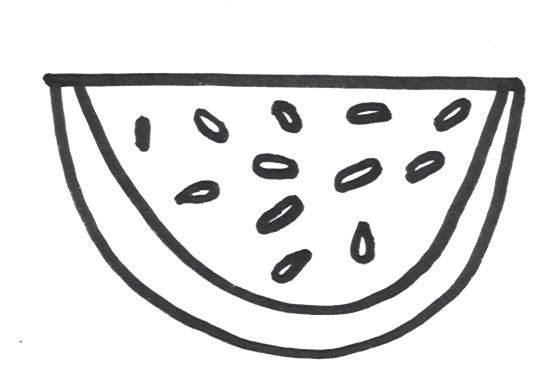 watermelon coloring pages printable for kids - Slice Watermelon Coloring Page
