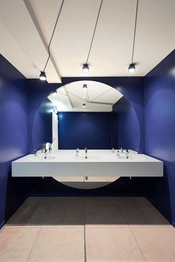Туалет кинотеатра в Котбусе, Германия, архитектурное бюро Studio Alexander Fehre