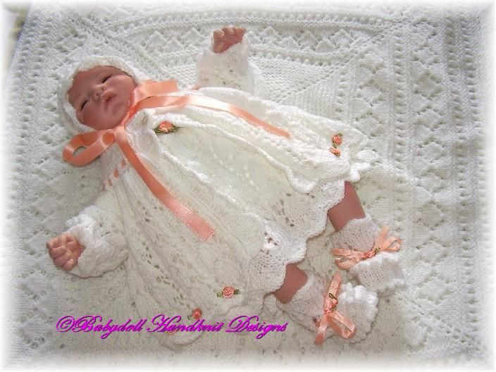 More beautiful knitwear (free patterns) for dolls - Baby Doll Hand Knit Designs