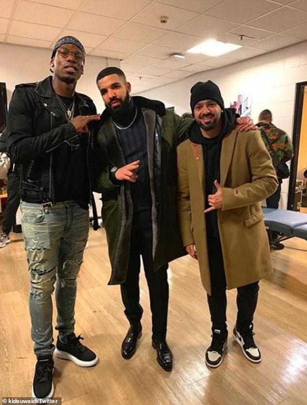 Lingard and Rashford enjoy Drake gig as Pogba meets rapper