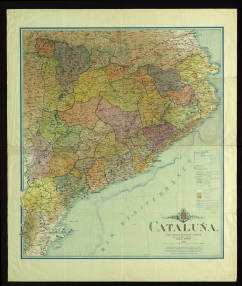 Cataluña : y país lindante de Aragón y Francia :: Mapes (Biblioteca de Catalunya)