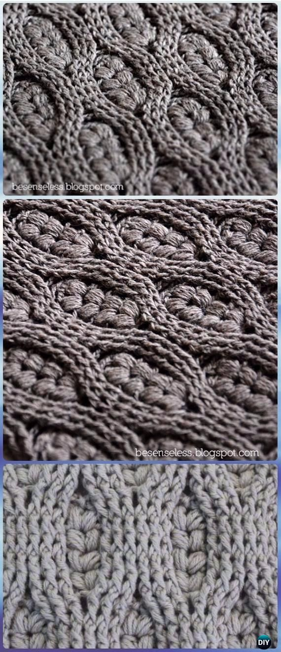 Crochet Puff Wheat Stitch Free Patterns [Video]
