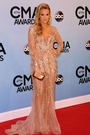 Carrie Underwood at the 2013 CMAs in Ralph & Russo Couture