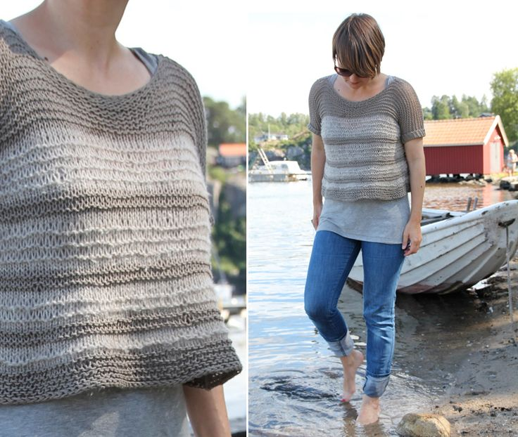 Easy breezy summer top - free knitting pattern - Pickles