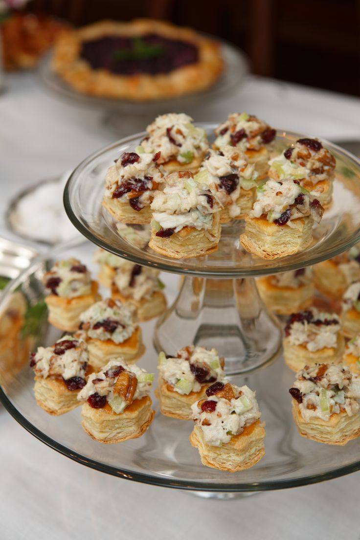 Bridal Tea Party - Cranberry-Pecan Chicken Salad Puffs - These are some of the most requested items from my tea party menu along with a couple of my personal favorites. Every recipe is easy to make and can be prepared in advance.