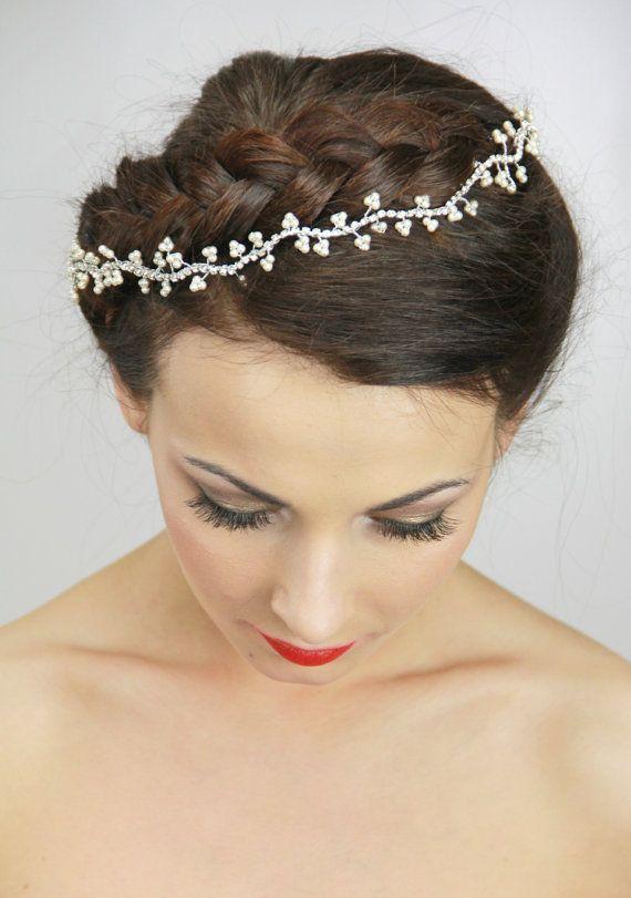 Glamour Bridal bandeau vignes de Pearl Bridal par LavenderByJurgita, $135.00