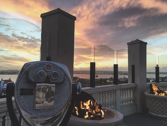 A San Diego sky as dramatic as the season's changing leaves. Photo taken by a guest at Grand Hyatt San Diego.