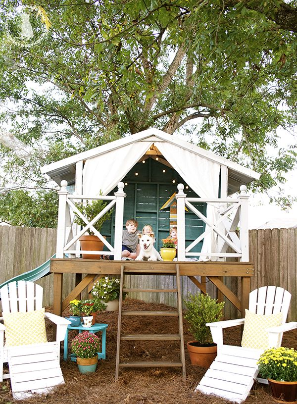 25 best ideas about outdoor forts on pinterest diy for Easy to build playhouse