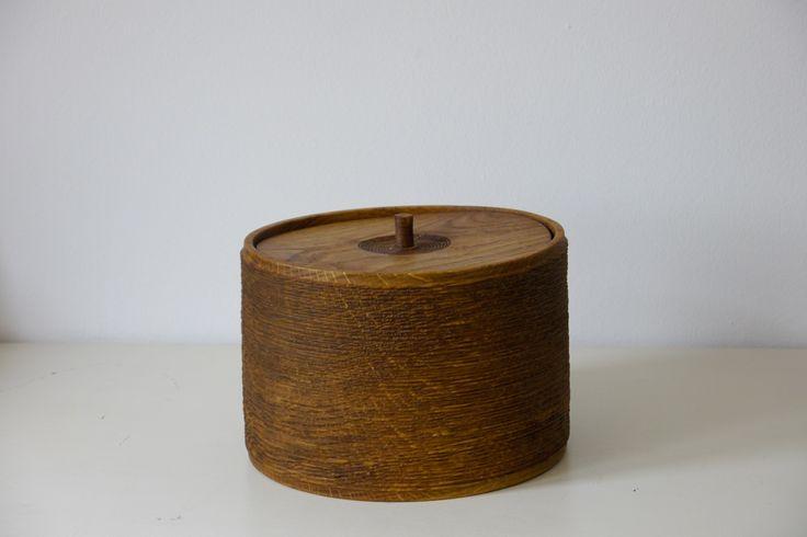 Limed Oakbox - ∅ 18cm, H 13cm