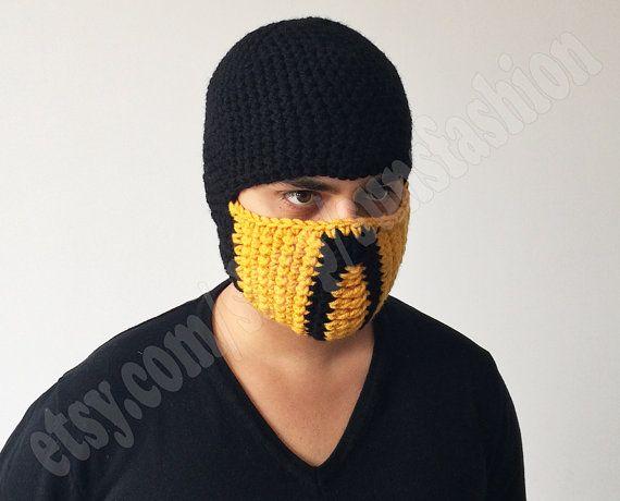 Scorpion Mortal Kombat Free Shipping Costume Mask Crochet