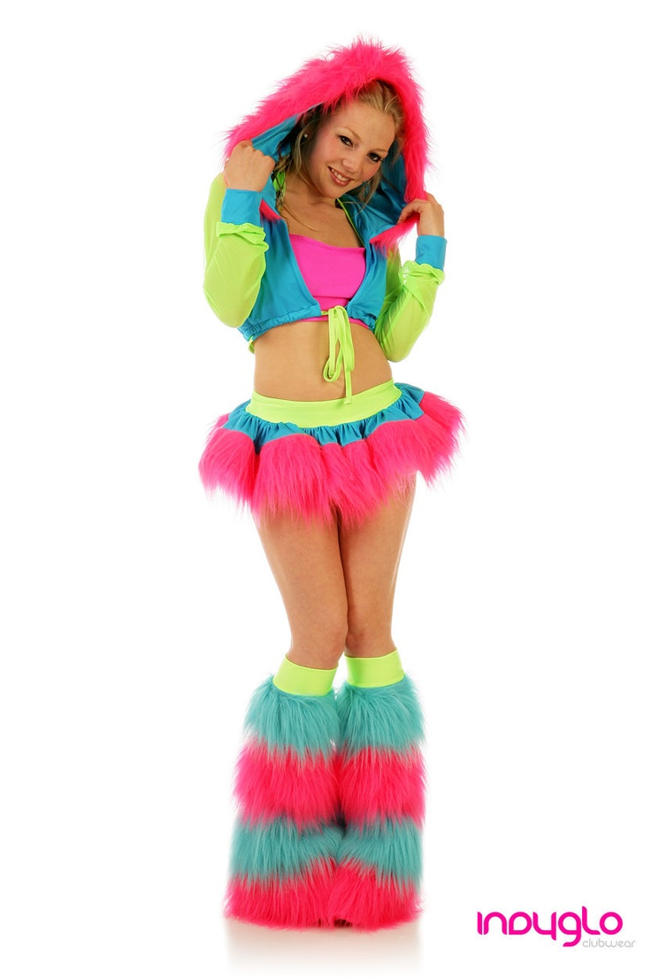 Electrik Pink Pogo Fur Rave Outfit - £69.99 - Only from Indyglo Clubwear.