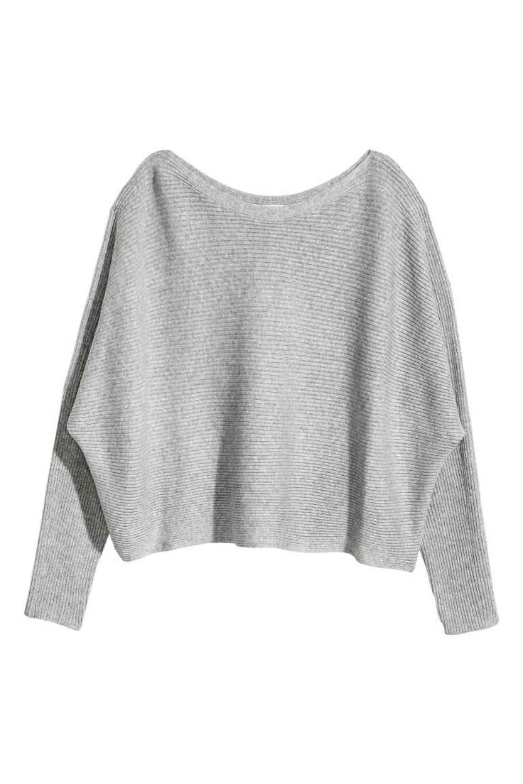 Ribbed jumper - Grey marl - Ladies | H&M CA 1