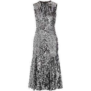 Dolce & Gabbana Sequined tulle midi dress