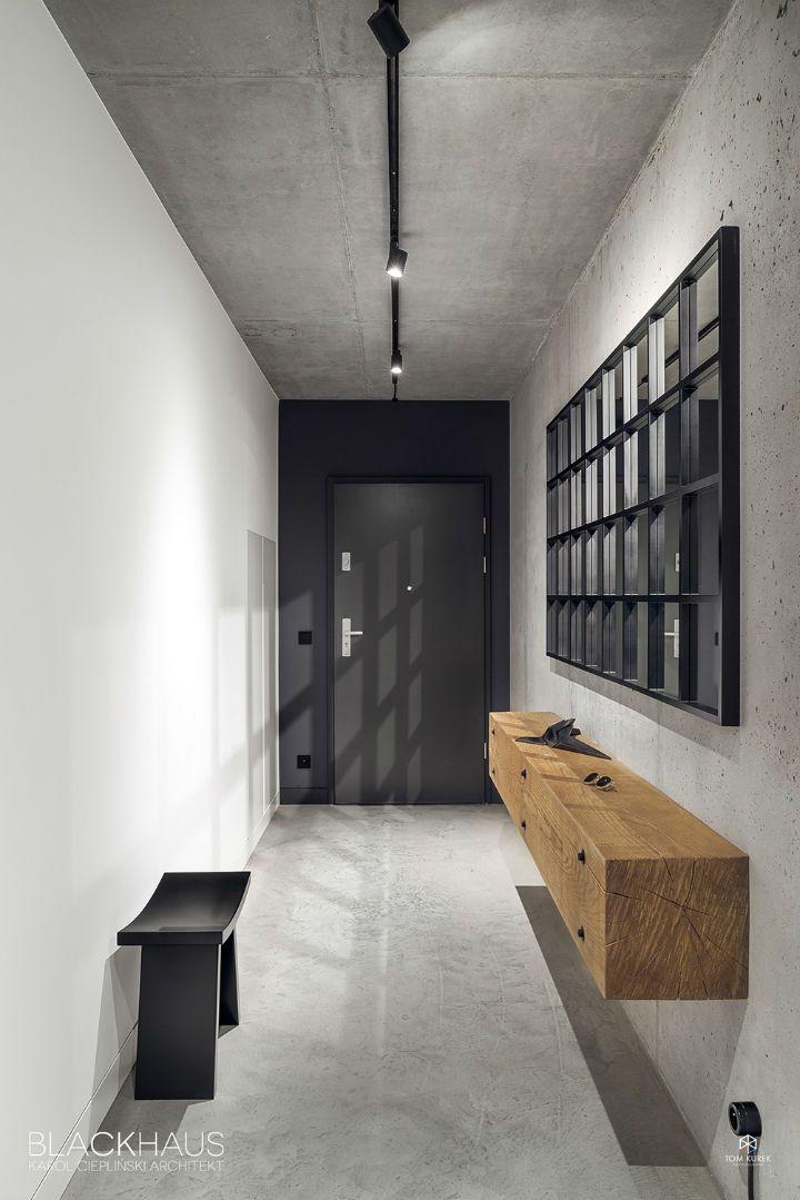 Geometric Space Of Contrasts Decoholic Concrete Interiors Concrete Walls Interior Modern Interior Design