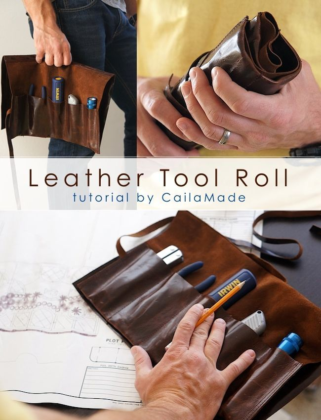 Leather Tool Roll tutorial - #FathersDay - A Little Craft in Your Day