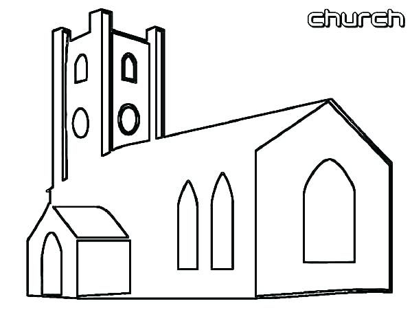 Coloring Page Of A Church Church Coloring Page Download Free