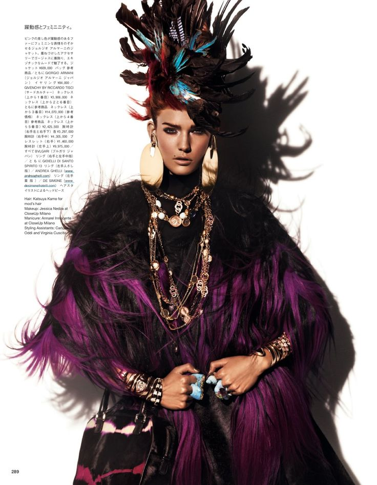 Fur Regal Reasons   Kendra Spears   Giampaolo Sgura #photography   Vogue Japan December 2012