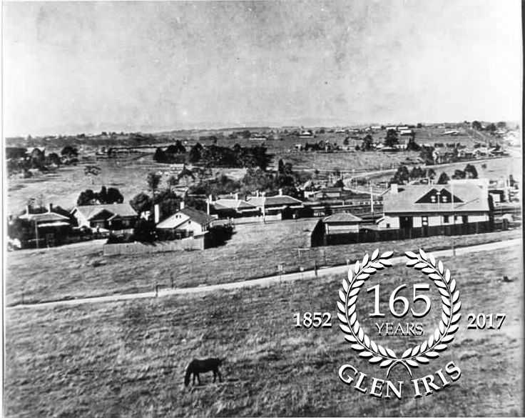 Glen Iris 1920s. Looking over Malvern Road. High Street sweeping around Eric Raven Reserve on the right.