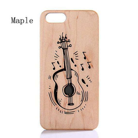 Iphone 5/5s Wood Case,Bamboo Wooden Case For Iphone 6 Iphone 6Plus Laser Engraved Genuine Violin Pattern Wood Case For Samsung Galaxy S6 004