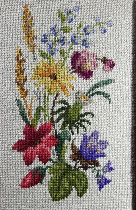 Needlepoint Floral - Framed