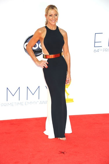 Emmys 2012: The Best of the Red Carpet - Edie Falco is stunning in a color-blocked dress by Stella McCartney.