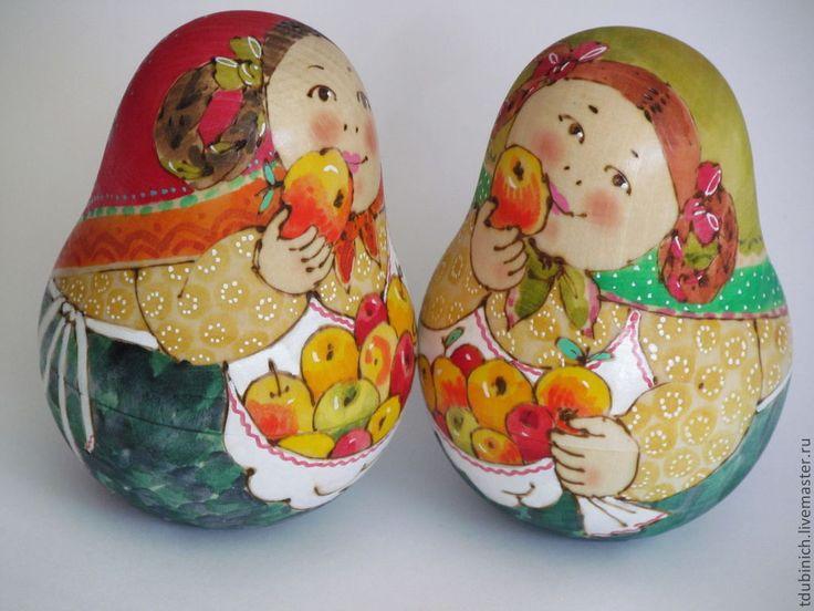 """Купить Неваляшка """"С яблочками"""". - купить подарок, подарок, сувениры и подарки, сувенир из россии"""