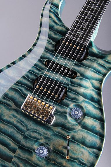 Paul Reed Smith Private Stock McCarty Trem Direct Mount H-S-H Curly Maple Neck #4514 Hand Pick Quilted Blue Steel