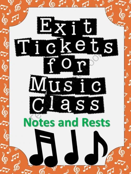 Exit Tickets Formative Assessments for Music Class-NOTES and RESTS from The Bulletin Board Lady on TeachersNotebook.com -  (22 pages)  - Formative assessment in music class has never been easier! Exit tickets or exit passes are a great way to gauge student understanding so that your planning time is more effective and your students� performance improves. Plan a few extra minutes at the end
