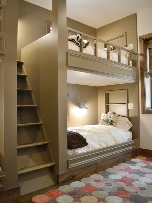 Awesome bunk beds. Climb secure stairs instead of a latched on ladder.